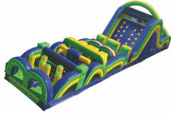 61' Rad Run Obstacle Course w/ Slide (B and C)