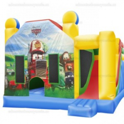 Cars Bouncy Castle & Slide