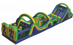 70' Fun Run Obstacle Course with Slide (A and C)