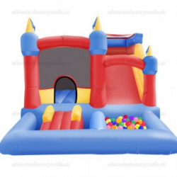 Toddler Castle, Slide & Ballpit