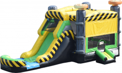 Caustic Castle & Slide With Water Slide